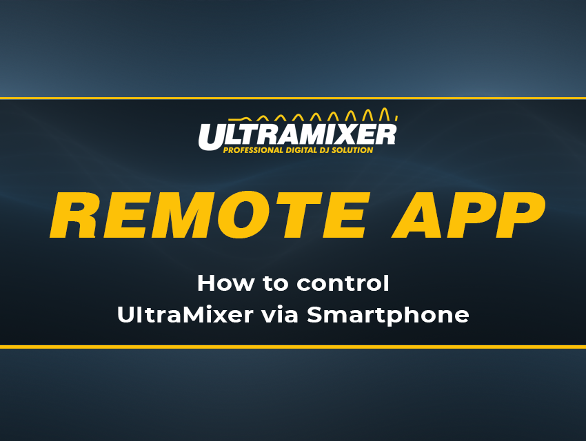 UltraMixer Remote-App: Blog